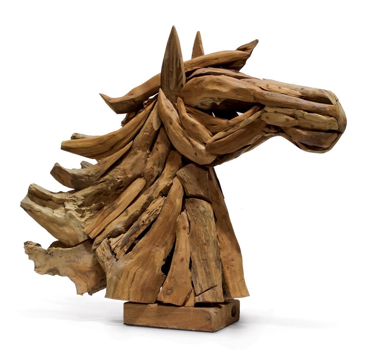 Driftwood Horse Head Decor Atelier Maison Co